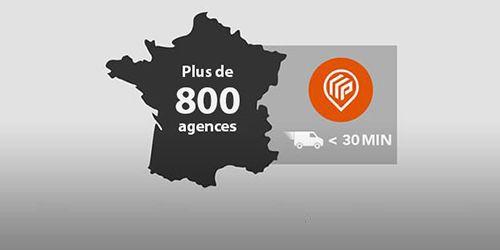 Plus de 800 agences partout en France