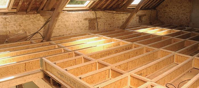 Les types de planchers : le plancher bois
