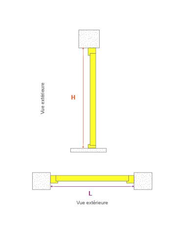 Prise de cotes pour une pose en tunnel (neuf et rénovation)