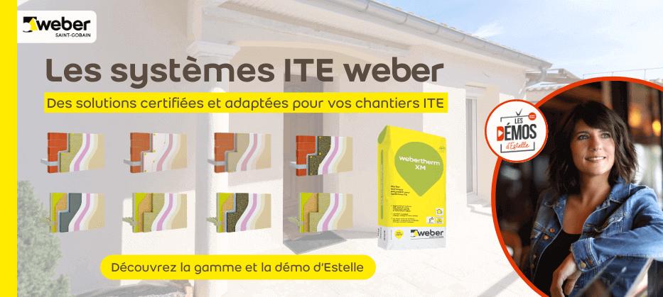 Weber des solutions adaptées pour votre chantier ITE