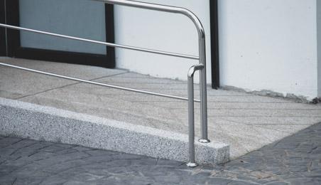 Rampe d'accès en métal