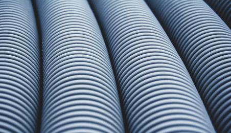 Canalisations de drainage en PVC gris