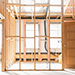 Structure de maison en bois avec huisseries déjà posées