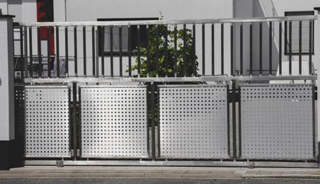 Portail contemporain en aluminium
