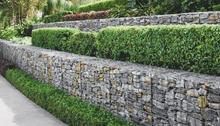 Mur de soutènement en gabion