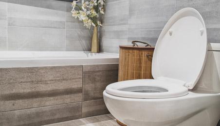 WC en céramique blanche
