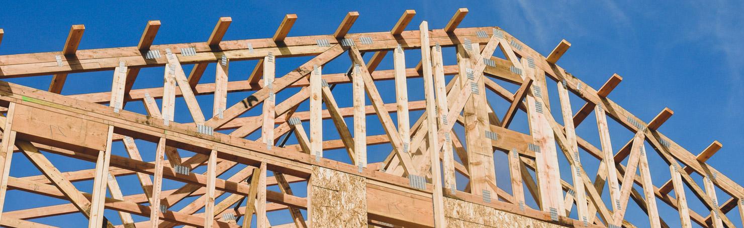 Ossature de maison en bois