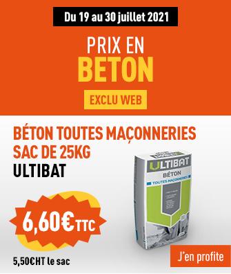 Exclu web - Profitez de nos prix en béton sur nos sacs 25Kg Ultibat