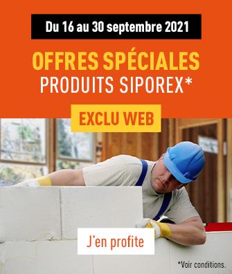 Offres spéciales sur un sélection de produits Siporex