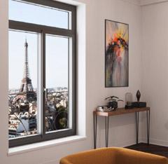Rénovation des fenêtres : fenêtre avec châssis aluminium
