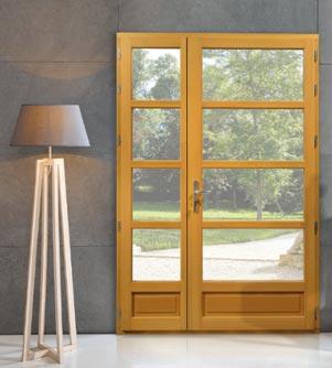 Rénovation des fenêtres : Porte-fenêtre avec châssis en bois