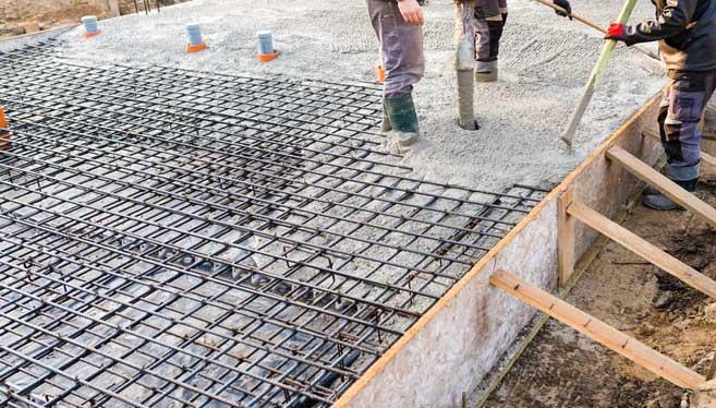 les types de planchers : le plancher béton avec dalle pleine