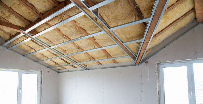 isolation faux plafond avec laine de verre