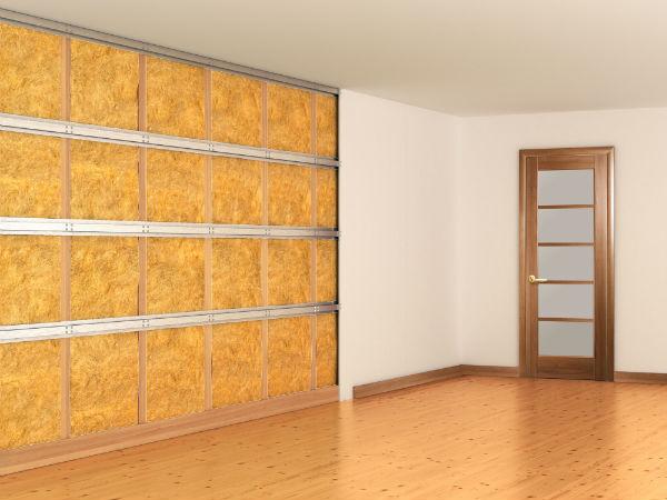 isolation mur par doublage sur ossature métallique