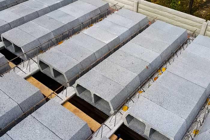 les types de planchers : le plancher béton poutrelle hourdis