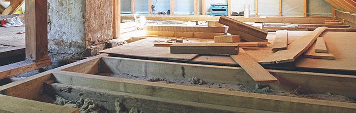 Rénovation d'un plancher bois